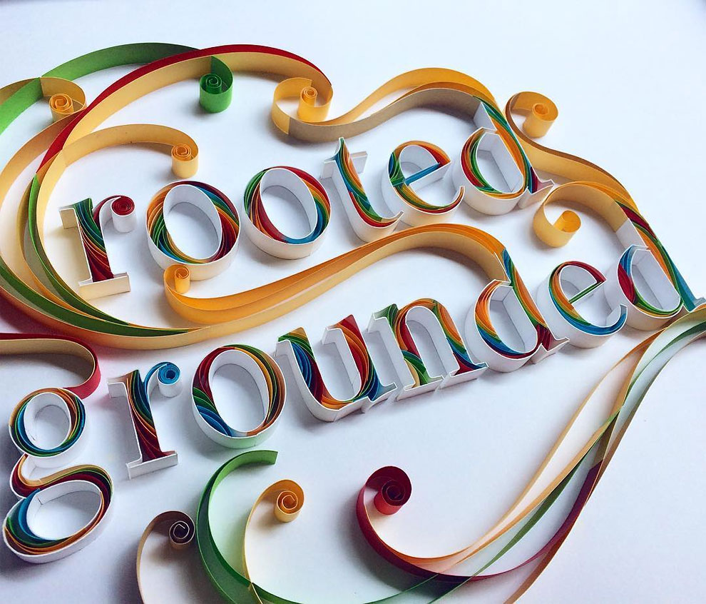 Typographic Paper Artworks by Sabeena Karnik 6 Typographic Paper Artworks with Quilling Technique by Sabeena Karnik