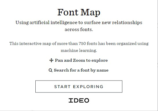 7.font map 10 Best Graphic design tools for 2017