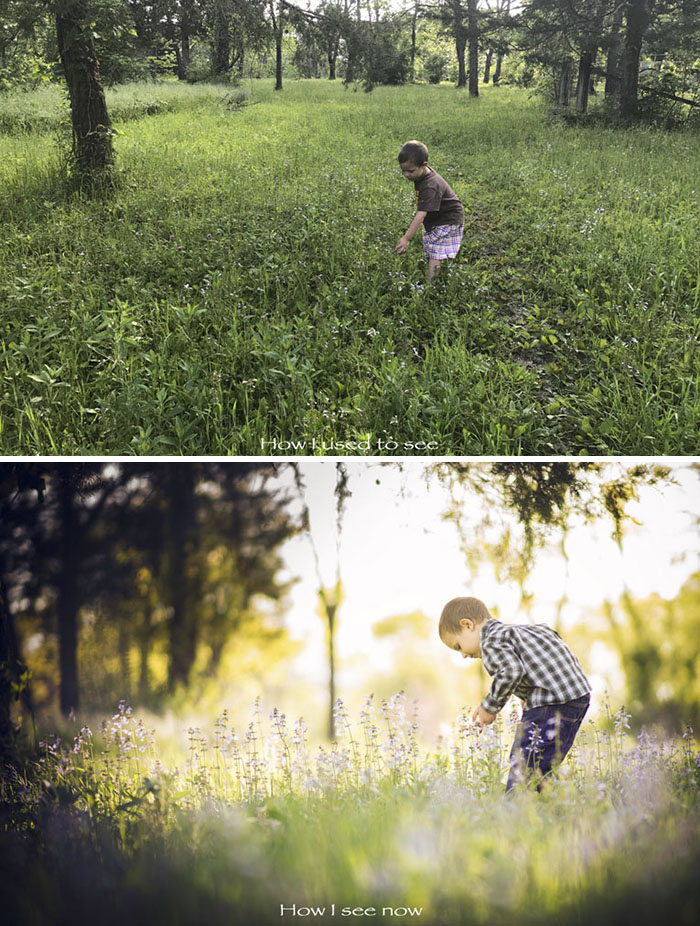 Photos showing what most people see and what a photographer sees 6 Amateur Vs. Pro: How Photographers Change Boring Scenes Into Perfect Shots