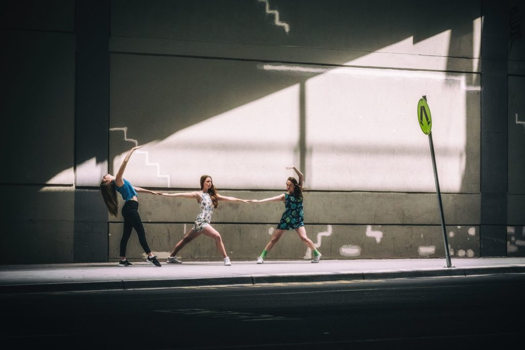 Streets Dancers Photographs Triforce featuring Claire Leske Francesca Alice and Louella Hogan 1024x682 Magnificent Photographs of Dancers in the Streets