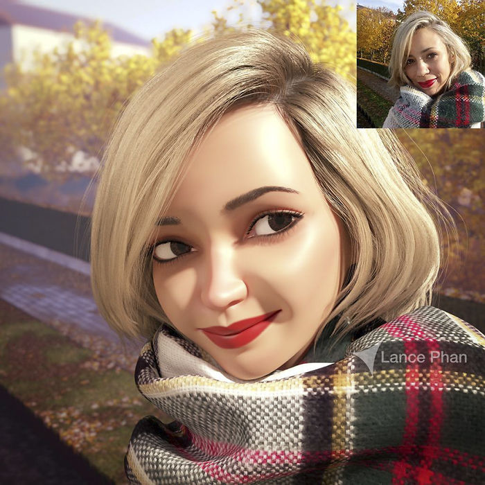 9 Artist Turns People Into 3D Pixar Like Characters