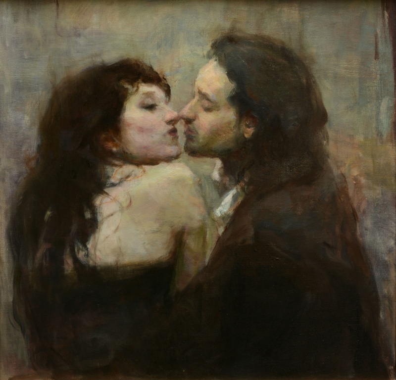 A calm pastel of Ron Hicks 1 Paintings of Artists Who Write About Love