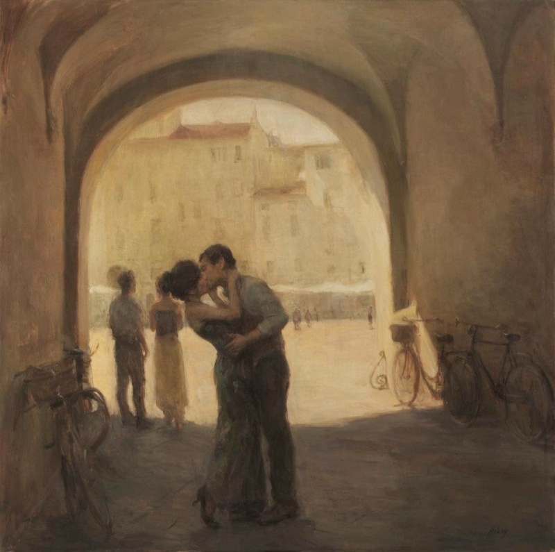 A calm pastel of Ron Hicks 2 Paintings of Artists Who Write About Love