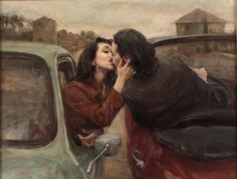 A calm pastel of Ron Hicks Paintings of Artists Who Write About Love