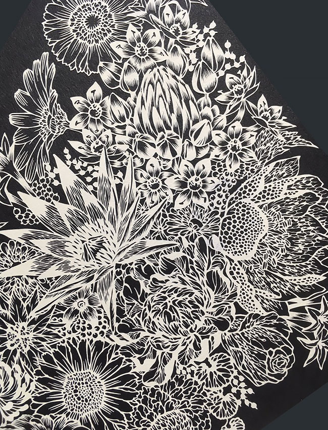 Amazing of Paper Cuts Ideas 1 Detailed Paper Cuts Swirling Forms Of Nature by Kiri Ken