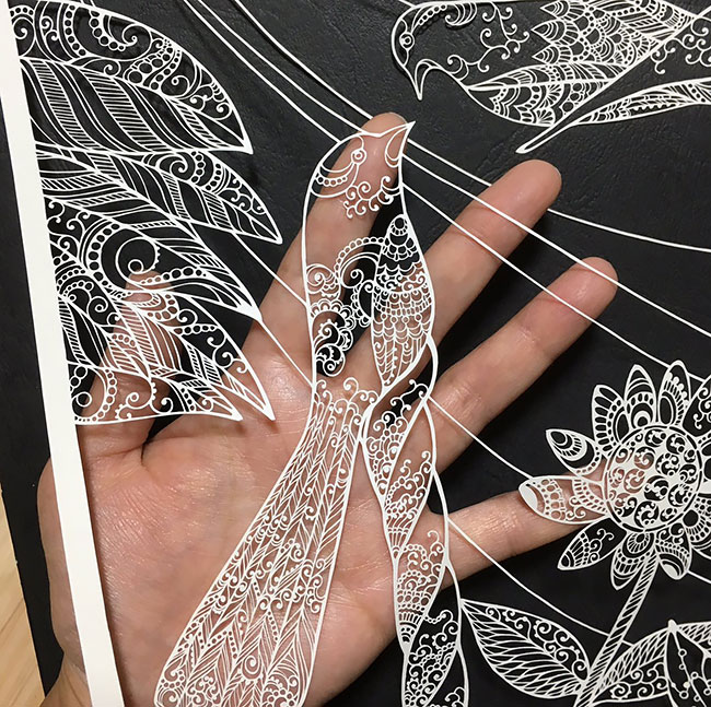 Best of Paper Cuts Ideas 1 Detailed Paper Cuts Swirling Forms Of Nature by Kiri Ken