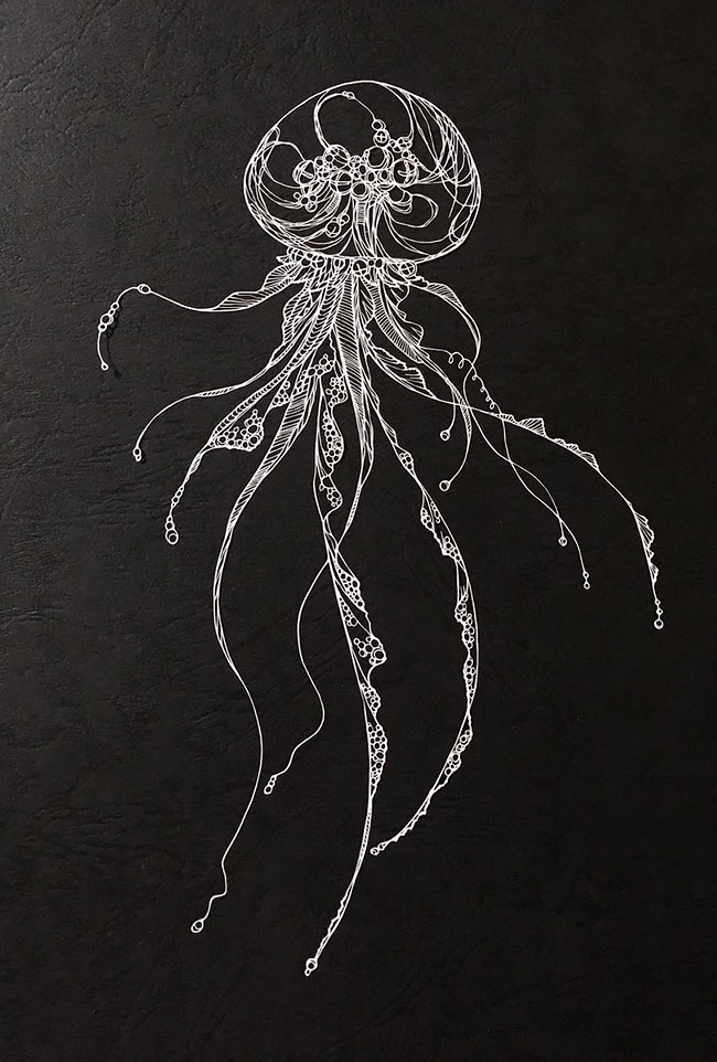 Detailed Paper Cuts Swirling Forms Of Nature by Kiri Ken 2 Detailed Paper Cuts Swirling Forms Of Nature by Kiri Ken