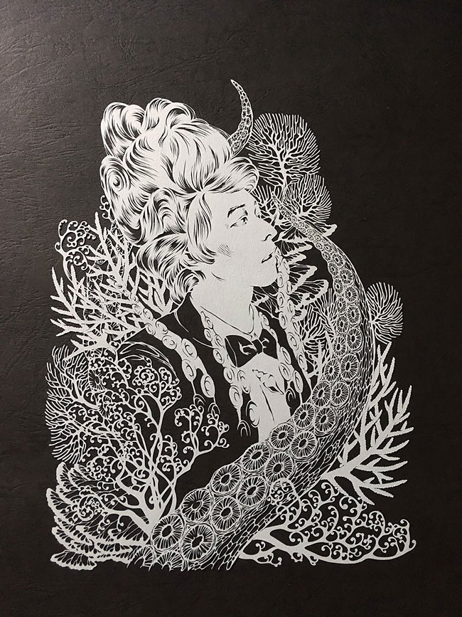 Detailed Paper Cuts artwork 1 Detailed Paper Cuts Swirling Forms Of Nature by Kiri Ken