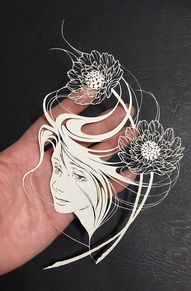 Detailed Paper Cuts artwork 2 Detailed Paper Cuts Swirling Forms Of Nature by Kiri Ken