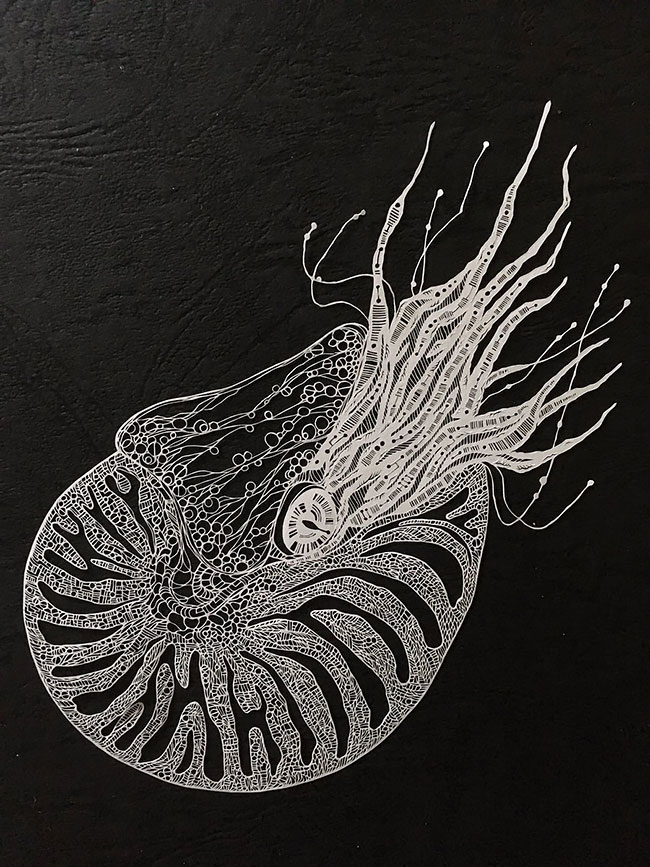 Incredible Paper Cuts Art Detailed Paper Cuts Swirling Forms Of Nature by Kiri Ken