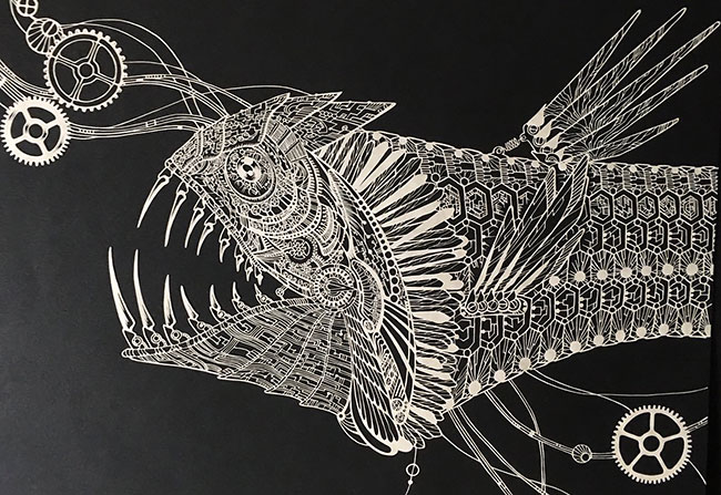 Inique Paper Cuts Art Ideas Detailed Paper Cuts Swirling Forms Of Nature by Kiri Ken
