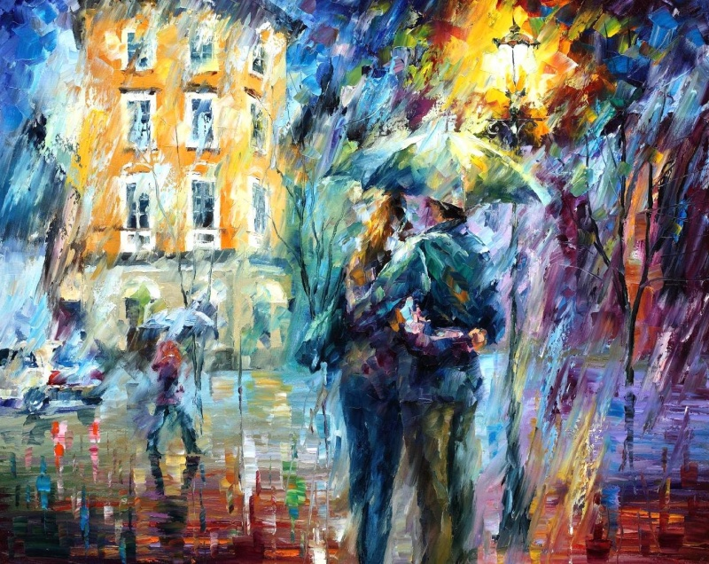 Luscious and bright love of Leonid Afremov 3 Paintings of Artists Who Write About Love