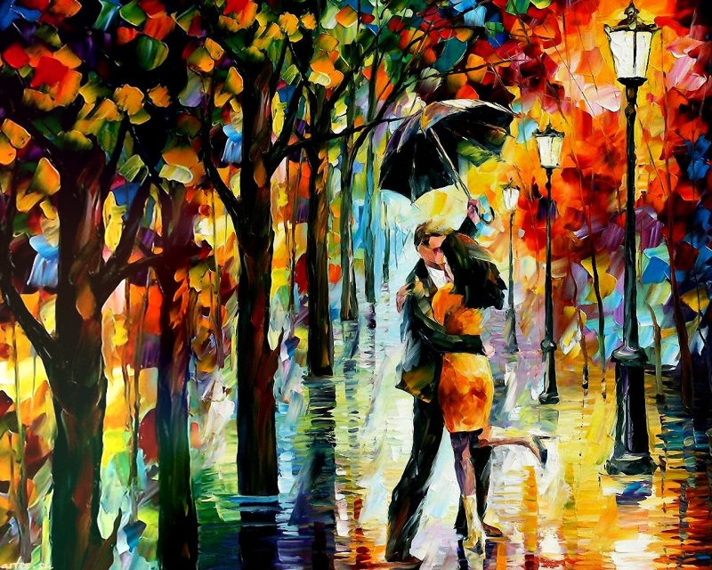 Luscious and bright love of Leonid Afremov Paintings of Artists Who Write About Love