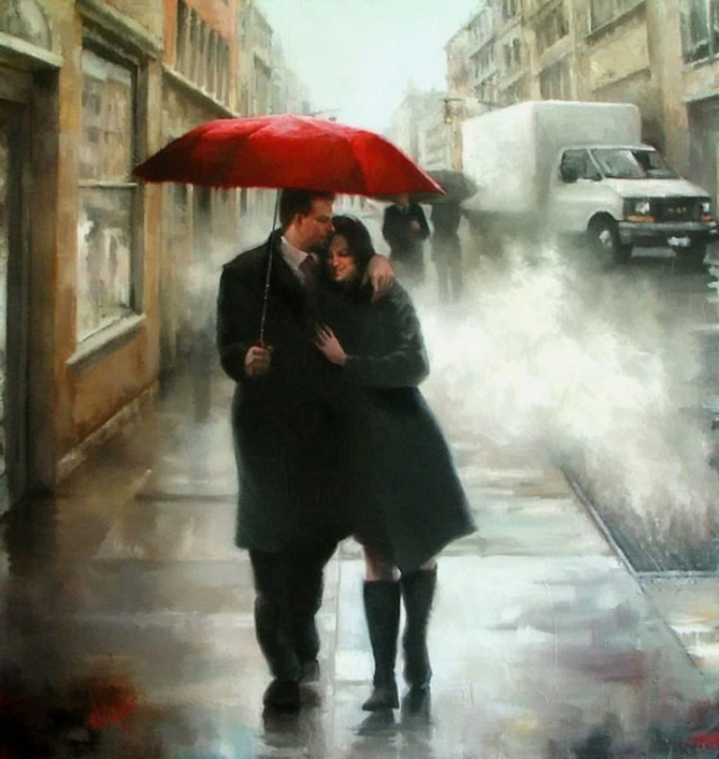 Painting with love by Daniel Del Orfano 2 Paintings of Artists Who Write About Love