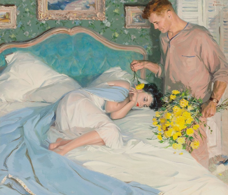 Sensual experiences of Tom Lovell 1 Paintings of Artists Who Write About Love
