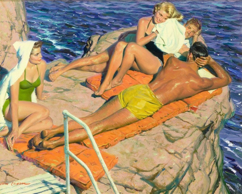 Sensual experiences of Tom Lovell 2 Paintings of Artists Who Write About Love