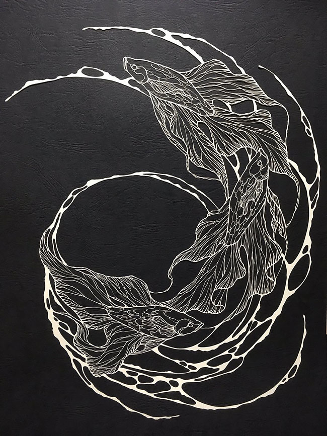 Wonderful Paper Cuts Swirling Forms Of Nature by Kiri Ken Detailed Paper Cuts Swirling Forms Of Nature by Kiri Ken