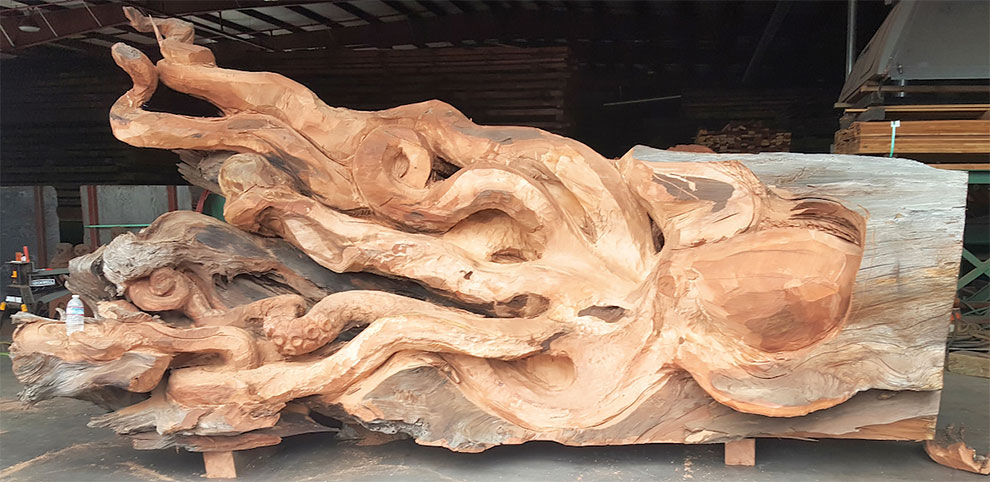 Artist Carves Fallen Redwood Tree Into Giant Sea Creature 11 Artist Carves Fallen Redwood Tree Into Giant Sea Creature