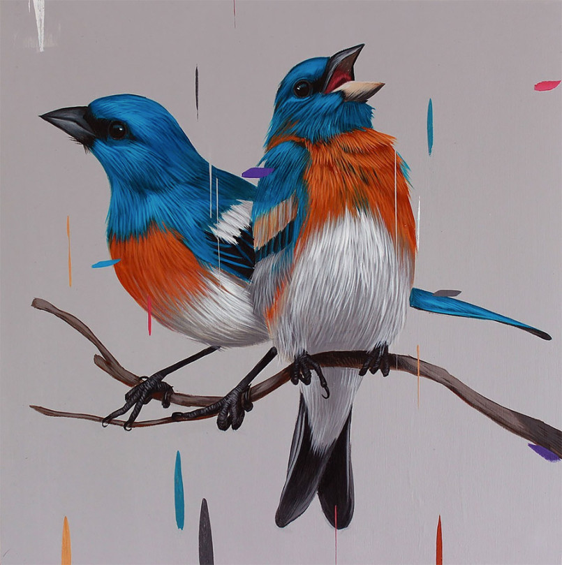 Beautiful Birds Paintings by Frank Gonzalez 1 Gorgeous Paintings of birds by American Artist Frank Gonzalez