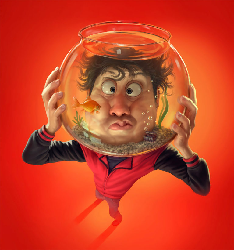 Funny Illustration Series by Tiago Hoisel 1 Sinuses: Funny Illustration Series by Tiago Hoisel