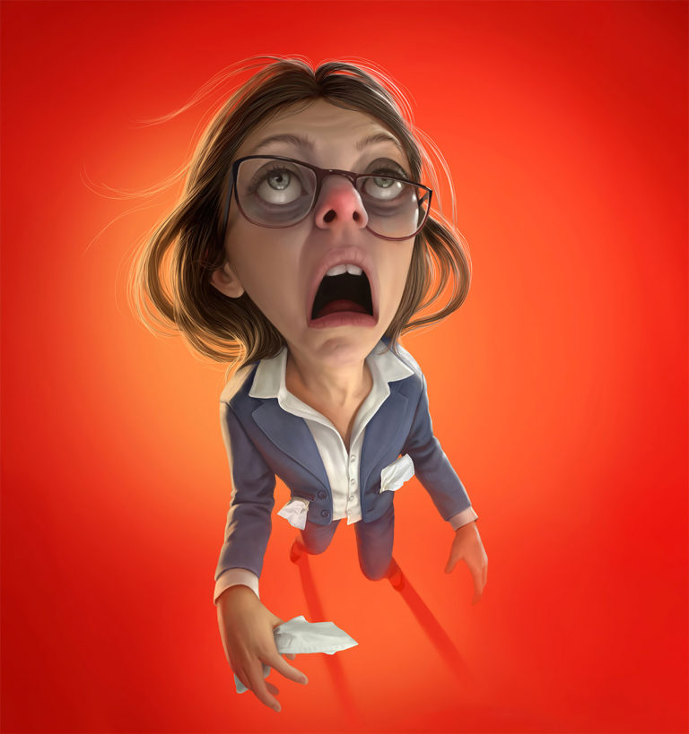 Funny Illustration Series by Tiago Hoisel 10 Sinuses: Funny Illustration Series by Tiago Hoisel