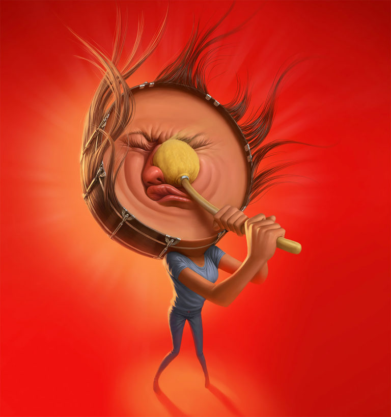 Funny Illustration Series by Tiago Hoisel 3 Sinuses: Funny Illustration Series by Tiago Hoisel