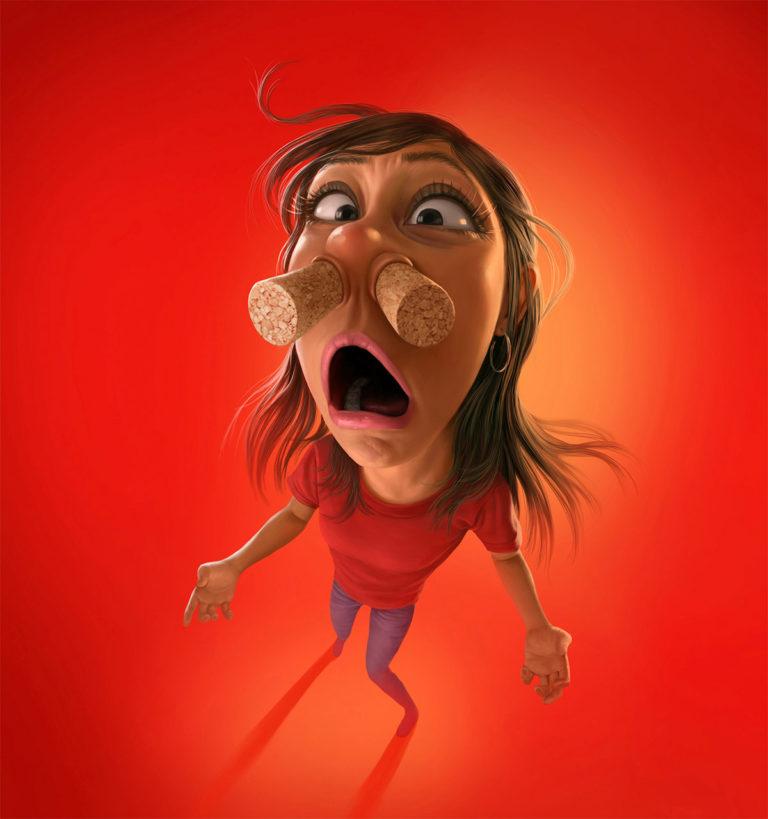 Funny Illustration Series by Tiago Hoisel 4 Sinuses: Funny Illustration Series by Tiago Hoisel