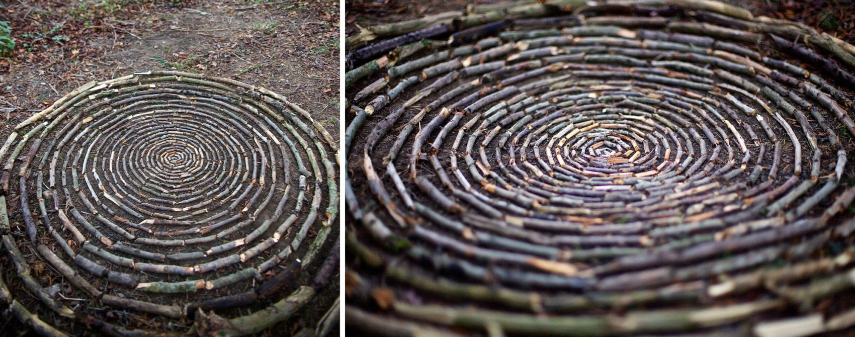 James Brunt creates elaborate ephemeral artworks 2 James Brunt Organizes Leaves and Rocks Into Elaborate Cairns and Mandalas