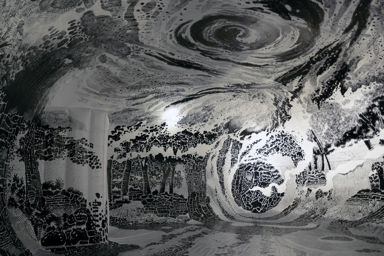 360 Degree Immersive Drawing by Oscar Oiwa 2 New 360 Degree Immersive Drawing Created With 120 Marker Pens by Oscar Oiwa