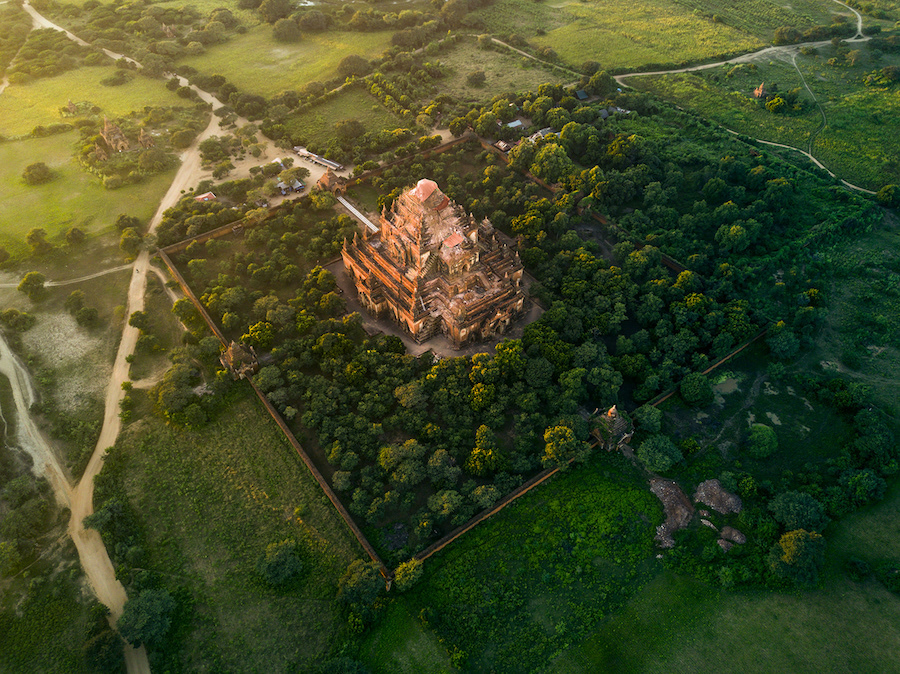 Beautiful Aerial Photographs Of Myanmar Temples 1 Beautiful Aerial Photographs Of Myanmar Temples