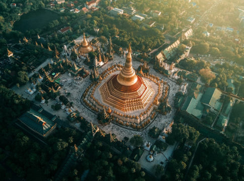 Beautiful Aerial Photographs Of Myanmar Temples