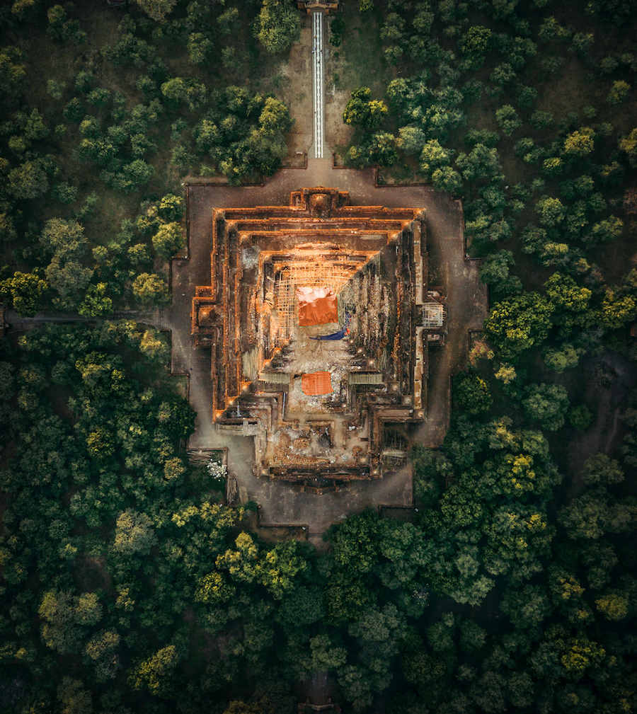 Beautiful Aerial Photographs Of Myanmar Temples 4 Beautiful Aerial Photographs Of Myanmar Temples