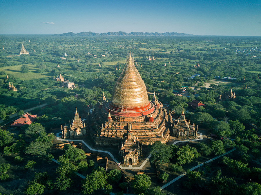Beautiful Aerial Photographs Of Myanmar Temples Beautiful Aerial Photographs Of Myanmar Temples