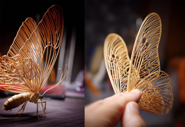 Incredibly Lifelike Insects Crafted out of Bamboo by Noriyuki Saitoh