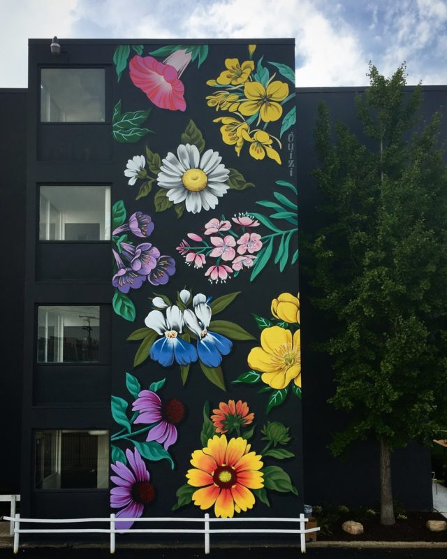 Stunning Huge Murals Floral by Ouizi