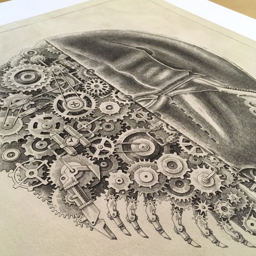 Awesome Black and White Drawings by Steeven Salvat 7 1024x1024 Awesome Black and White Drawings by Steeven Salvat