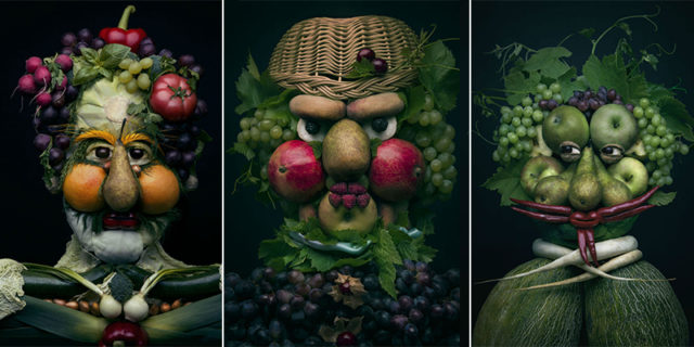 Mind Blowing Realistic Portrait Made with Fruits and Vegetables