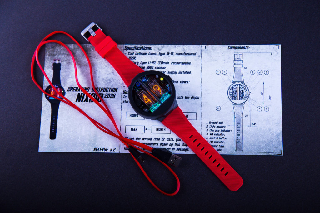 Nixie Watch Nixoid 1 1024x683 NEW ENTRANTS TO THE NIXIE TUBE WRIST WATCH MARKET USES USSR MIL SPEC TUBES