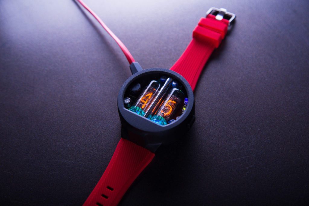 Nixie Watch Nixoid 1024x683 NEW ENTRANTS TO THE NIXIE TUBE WRIST WATCH MARKET USES USSR MIL SPEC TUBES