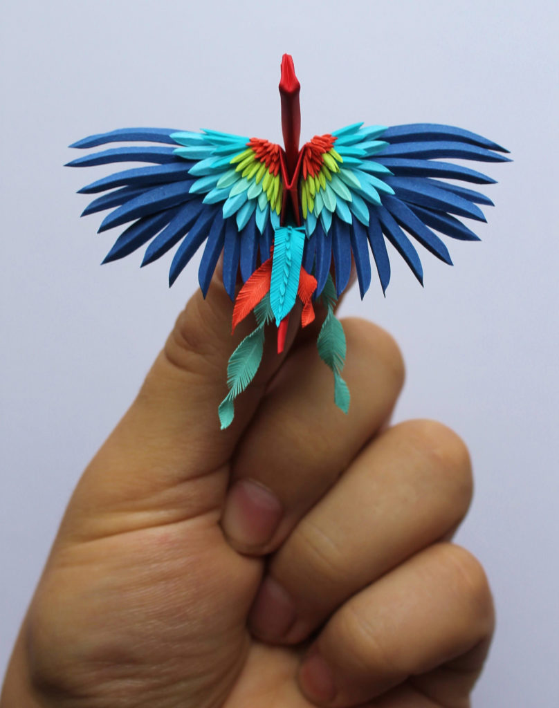 the Most Beautiful Paper Cranes with Feathery Details 808x1024 The Most Beautiful Paper Cranes with Feathery Details