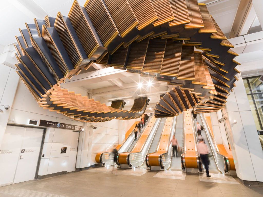 Incredible Sculptural Installation of the Old Wooden Escalators 5 1024x768 Incredible Sculptural Installation of the Old Wooden Escalators