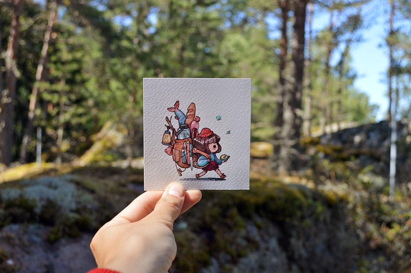 Cute Colorful Small Drawings by Marija Tiurina