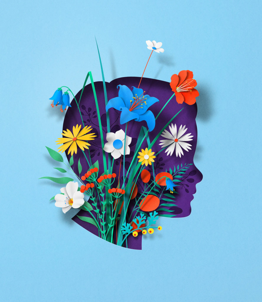 Stunning Paper Illustrations by Eiko Ojala 4 888x1024 Stunning Paper Illustrations and GIFs Explore the Body and Mind by Eiko Ojala